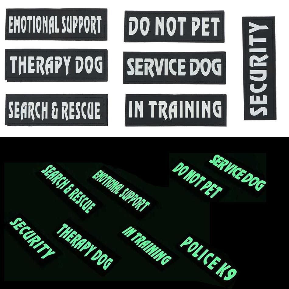 Parches con insignia de apoyo emocional para perro, chaleco con arnés para mascota, servicio de Mascota, perro en entrenamiento, parche de seguridad, terapia para perro