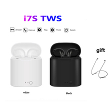 i7s TWS Bluetooth Earphone in-ear Wireless Headset Mini Music Earpiece Sport Earbuds with Wireless Earphone Charging Box i7s tws mini wireless bluetooth earphone in ear stereo earbuds music sport headset for iphone xs samsung s9 xiaomi huawei