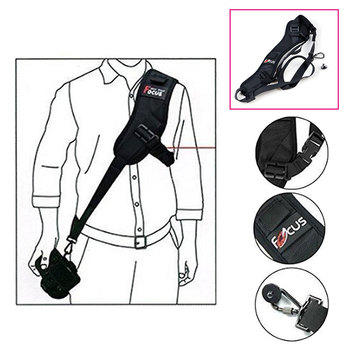 цена на Focus F-1 Quick Rapid Single Shoulder Belt Camera Neck Carry Speed Anti-Slip Sling Strap for Canon Nikon DSLR 7D 5D Accessories