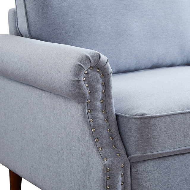 Velvet Fabric Love Seat  4