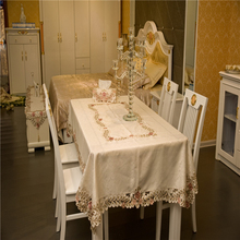 European Polyester Home Party Banquet Tablecloth Waterproof Oilproof White Table Cloth Hollow Out Cover Tapete Mantel Mesa