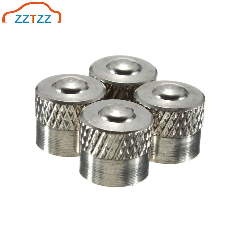 12Pcs/Lot Car Tire Valve Stems Cap Knurling Style Tire Valve Cap Aluminum Tire Wheel Stem Air Valve Caps Dustproof Caps