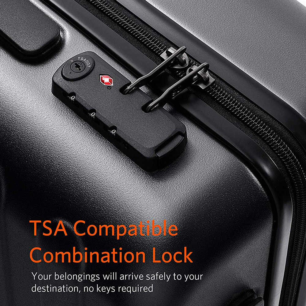 NINETYGO 90FUN Carry On bagaż 20 cal na 4 koła spinner lekki Hardshell PC walizka z zamkiem TSA do podróży biznesowych