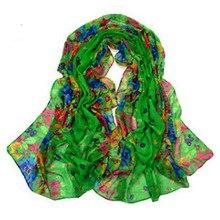 Women Warm Soft Voile Floral Scarf Wrap Shawl Stole Chiffon Neck Wrap WJ1