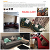 Solid Color Wraping Corner Sofa Cover 6