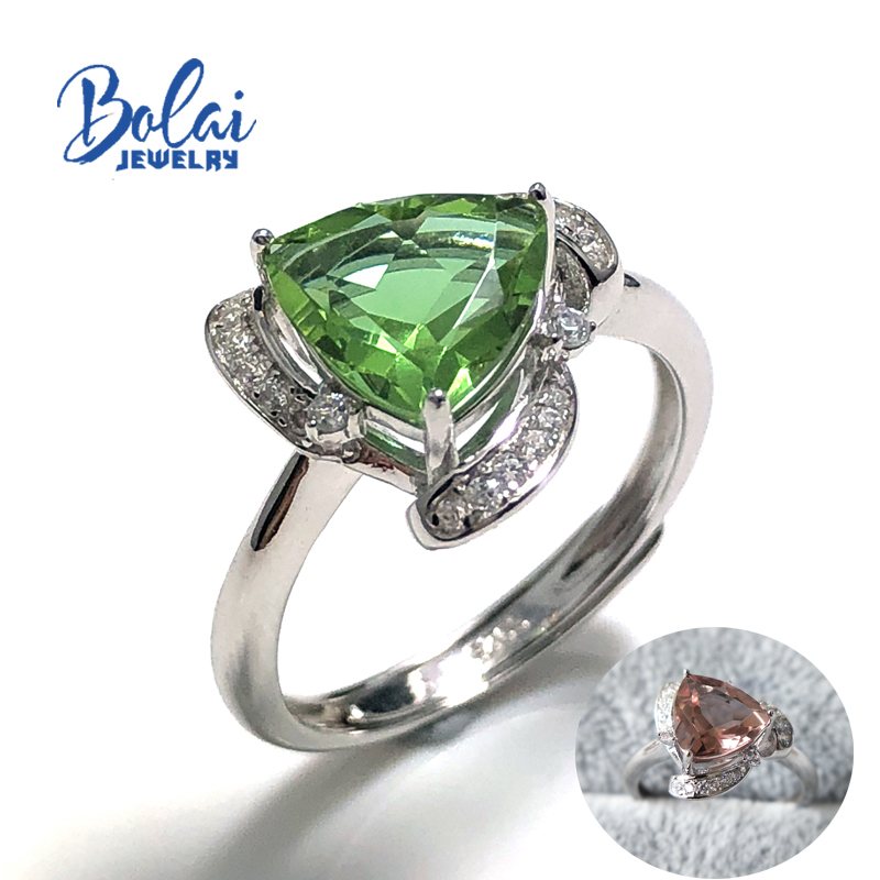 Bolaijewelry,Zultanite Ring Created Color Change Gemstone Square 8mm In 925 Sterling Sliver Simple Style Fine Jewelry For Girl