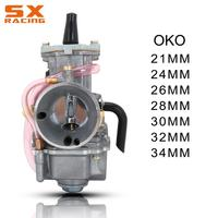 Motocycle Carburetor Carburador For OKO 21 24 26 28 30 32 34 MM Racing Parts Scooters Dirt Bike ATV With Power Jet Used