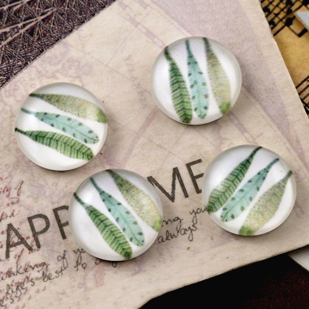 New Fashion  20pcs 12mm Handmade Photo Glass Cabochons   (E7-06)