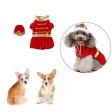 New High-quality Pet Festival Clothes Halloween Christmas King Pack Costume Comfortable And Hat