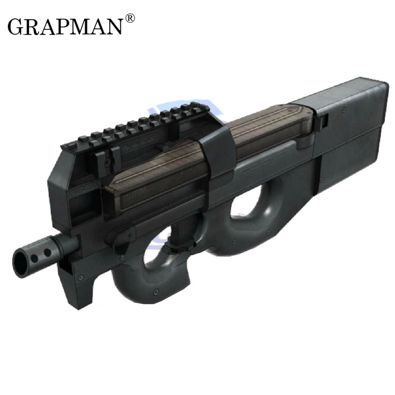 Paper Model Gun Modern Fn P90 Submachinegun 1:1 Proportion 3D Puzzle DIY Paper Model Educational Toy