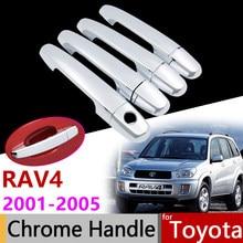 Acessórios do carro Exterior Porta Chrome Lidar Com Cobertura para Toyota Hilux 2005 ~ 2014 AN10 AN20 AN30 SR5 2007 2008 2010 2013 Guarnição Set
