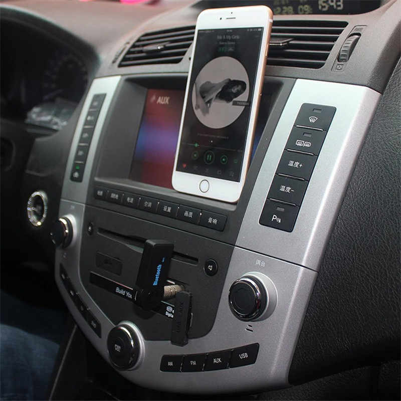 Bezprzewodowy odbiornik Bluetooth nadajnik Adapter 3.5mm Jack do samochodu muzyka Audio Aux A2dp do słuchawek odbiornik zestaw głośnomówiący
