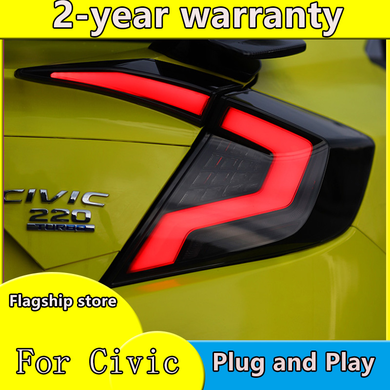 Car Styling For Honda Civic G10 Tail Lights 2016 2017 2018 2019 For Honda Civic 10th 12V LED Car Tail Lights Taillight Rear Lamp
