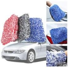 1pc máxima luva de alta densidade lavagem automática pano ultra super absorvência esponja do carro luva de pelúcia toalha de limpeza de microfibra