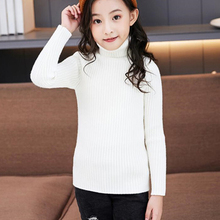 Turtleneck Sweater Pullover Colthes Knitted Baby-Girls Boys Winter Children Clothing