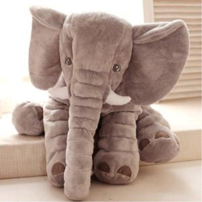 40cm/60cm Height Large Plush Elephant Toy Kids Sleeping Back Cushion Cute Stuffed Baby  Doll Xmas Christmas Gifts