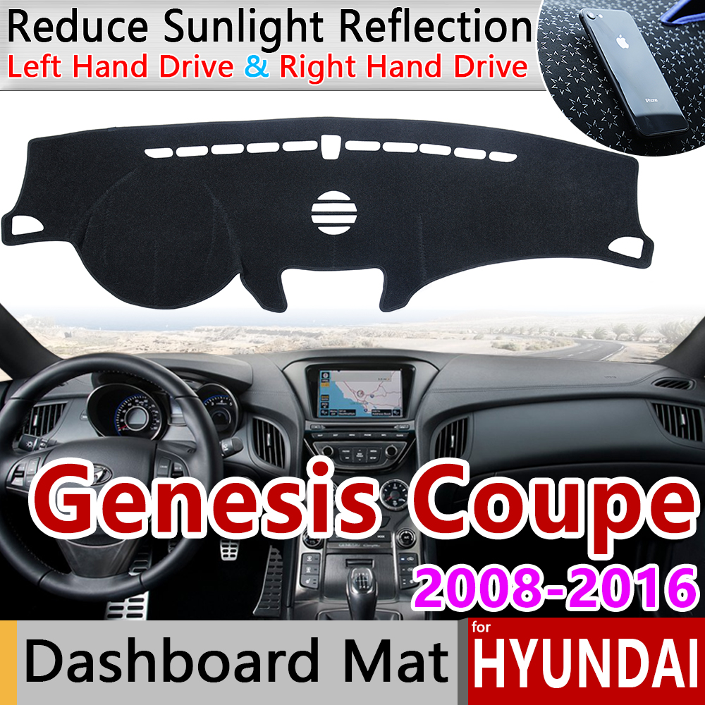 for Hyundai Genesis Coupe 2008 2009 2010 2011 2012 2013 2014 2015 2016 Anti Slip Mat Dashboard Cover Pad Sunshade Accessories|Car Stickers| |  - title=
