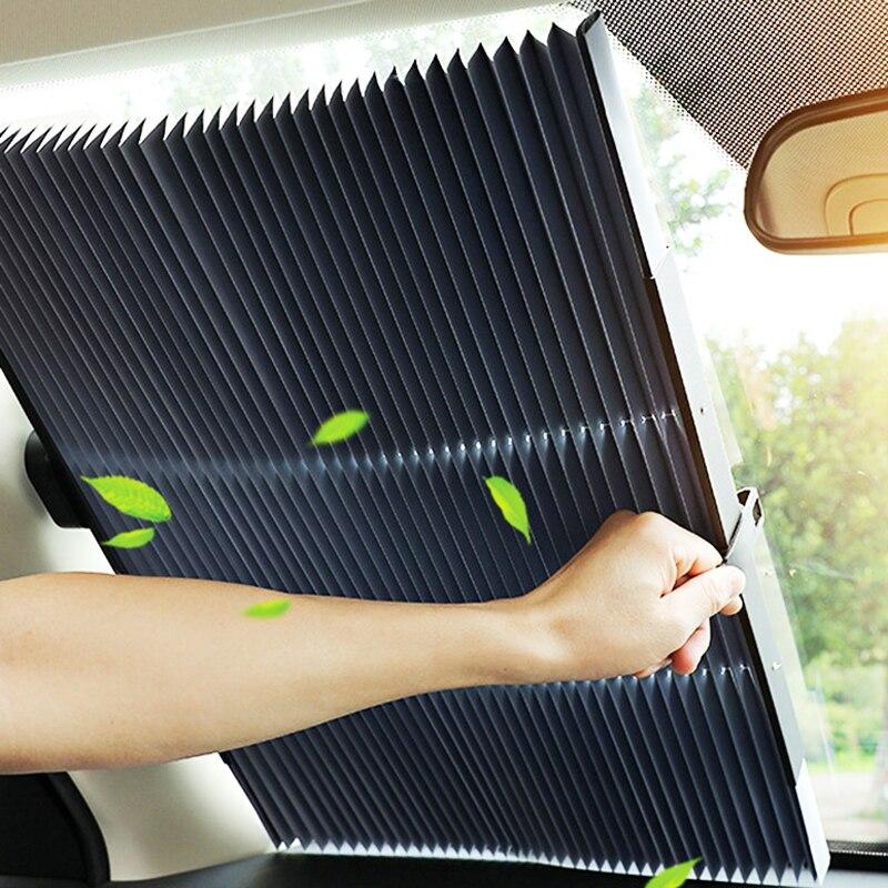 Автомобильное выдвижное лобовое стекло солнцезащитный тент блок солнцезащитный козырек крышка переднее заднее окно фольга занавеска для