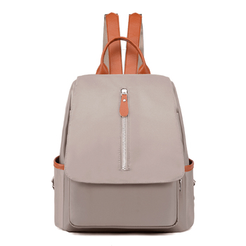 2020 Women's Outdoor Simple Oxford Zipper Contrast Color Backpack Multi-purpose Travel Bag Multifunctional Preppy Style рюкзак цена 2017