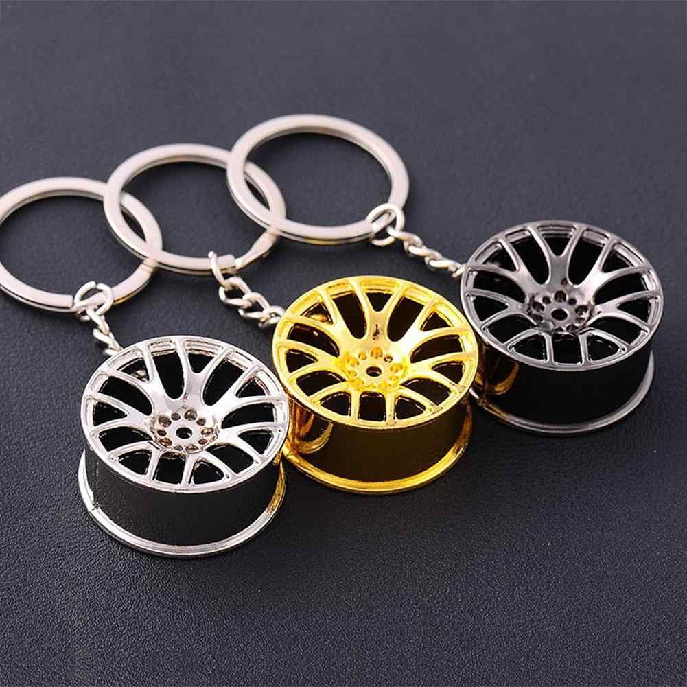 พวงกุญแจโลหะล้อรถ HUB Auto โลโก้ Key CHAIN Auto อะไหล่ซ่อมรถ MINI ยางล้อพวงกุญแจ 3 สี MINI COOPER พวงกุญแจ