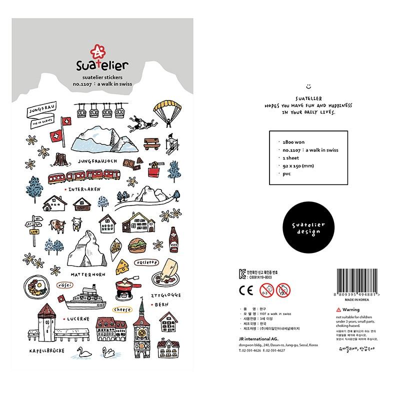 Walk In Swiss Sonia Bullet Journal Decorative Washi Stickers Scrapbooking Stick Label Diary Stationery Album Stickers
