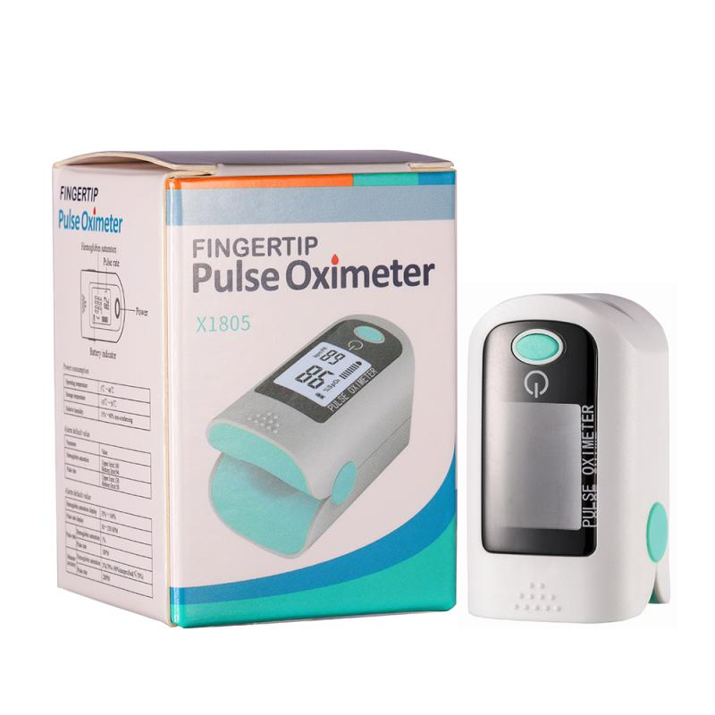 Portable Fingertip Finger Pulse Oximeter Oxygen Fingertip Pulsoximeter Equipment With Dual-value Display Of Blood Oxygen & Pulse