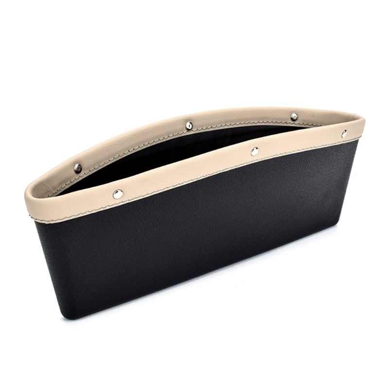 Car Seat Pockets Filler PU Leather Organizer Storage Side Console Slit Pocket Storage Container