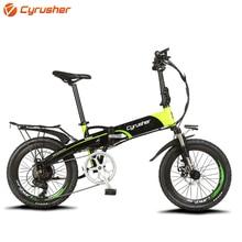 Cyrusher XF500 Electric Bicycle Folding Bike 400W 48V 10AH Li Battery full suspension Frame ebike With