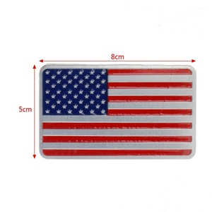Image 5 - NoEnName_Null Metal American US Flag Car Sticker Logo Emblem Badge For Jeep Bmw Fiat VW Ford