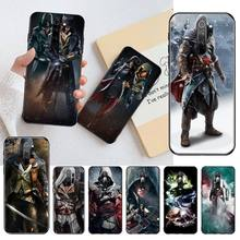 HPCHCJHM Assassins Creed Classic Figure Black TPU Soft Rubber Phone Cover for Redmi Note 8 8A 8T 7 6 6A 5 5A 4 4X 4A Go Pro 7 5 cm single joint slide fader potentiometer a10k handle with rubber dust 8t