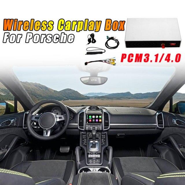 ワイヤレス carplay ボックス PCM3.1/4.0 android の自動パナメーラ 982 718 991 911 2010 2018 ポルシェカイエンため macan アップル carplay