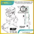 15HP с водяным охлаждением MLBP конденсаторный агрегат с полугерметичным компрессором-отличный выбор для ледогенераторов  морозильников и дру...
