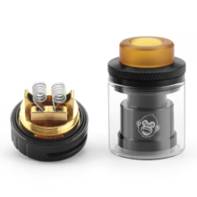 Coil Father SS RTA Atomizer Dual Coil 24mm 3ml Top Fill Vaporizer Tank For Electronic Cigarette Box Mod Hookah Vape Atomizer