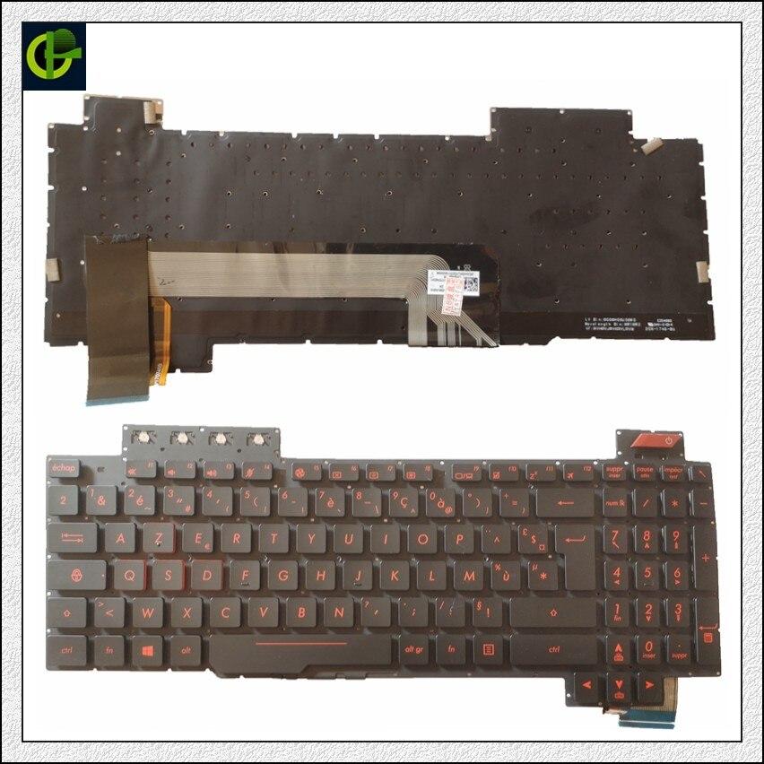 French Azerty Backlit Keyboard For ASUS ROG FX503 FX503V FX503VM FX503VD FR  V170746DK1 AEBKLF02010 90NR0GN1-R31US0