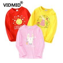 VIDMID boys girls long sleeve t-shirts kids girls cartoon clothes tops teess 3-14 years children boys girls t-shirt tops 4018 48