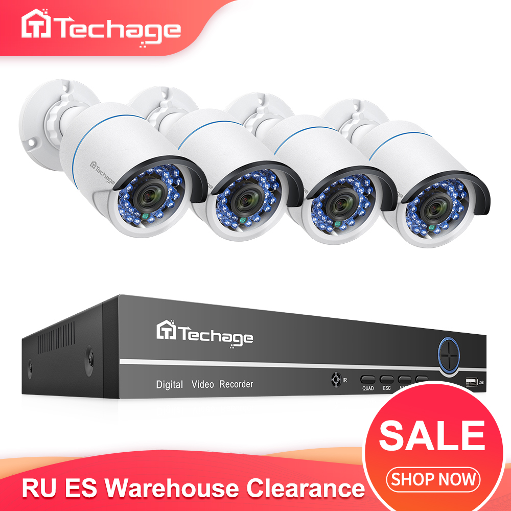 H.265 8CH 1080P POE NVR Kit CCTV System 2MP IP Camera IR Night Vision P2P Onvif Video Security Surveillance Set RU ES Warehouse
