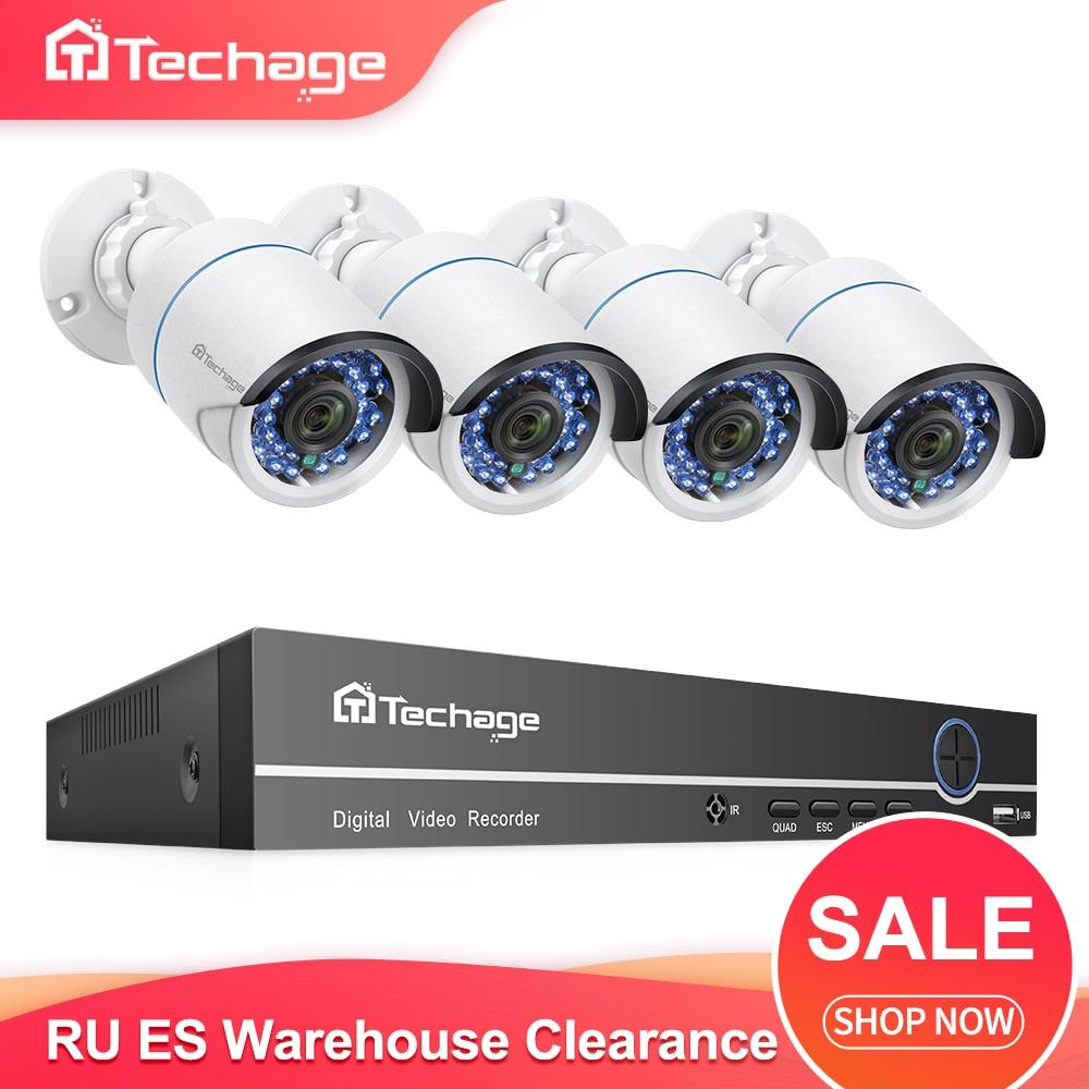 H.265 8CH 1080P POE NVR Kit CCTV System 2MP IP Camera IR Night Vision P2P Onvif Video Security Surveillance Set RU ES Warehouse