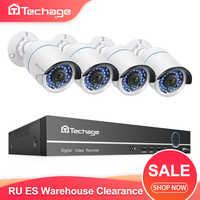 H.265 8CH 1080P POE NVR Kit CCTV Sistema di 2MP IP Della Macchina Fotografica di IR di Visione Notturna P2P Onvif Video di Sorveglianza di Sicurezza set RU ES Magazzino