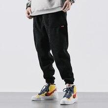 Japanese Style Fashion Men Jeans Loose Casual Corduroy Cargo Pants Homme Harem Trousers Black Vintage Designer Hip Hop Pants Men