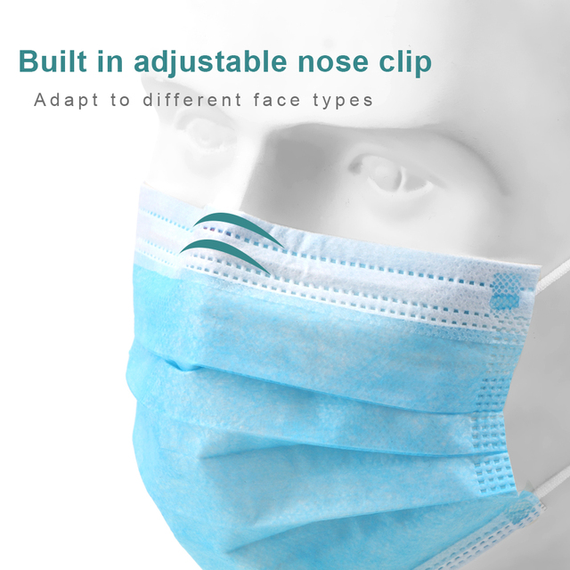 10/50Pcs 3 Layer Anti-Dust Disposable Breathing Safety Face Mouth Masks Earloops Masks 2