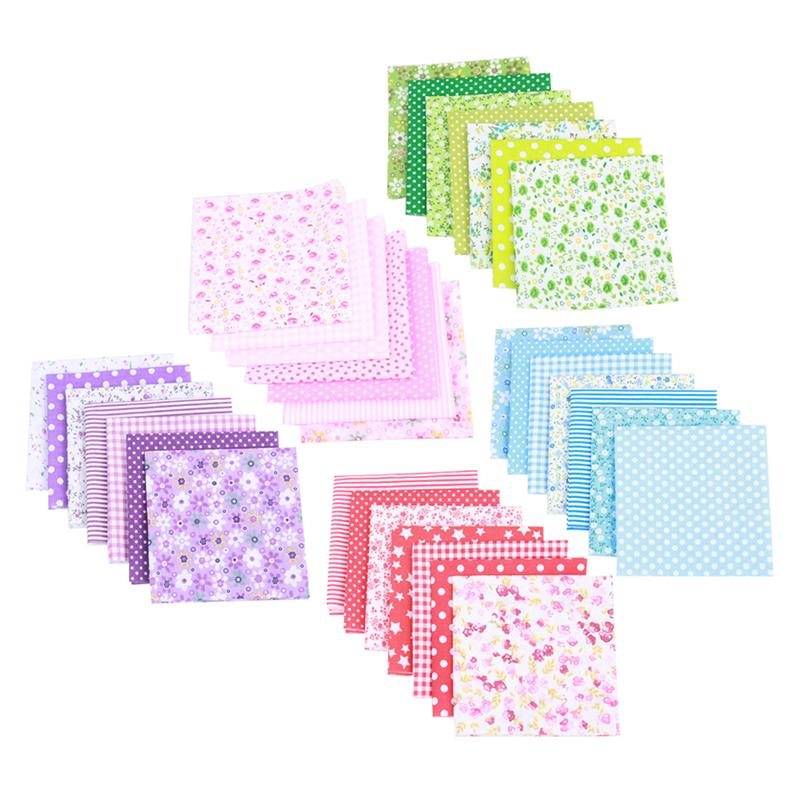 5 Packs Cotton Fabrics Floral Handmade Hand Material For Sewing Scrapbooking