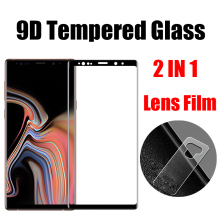 2 in 1 Back Camera Lens Film For Samsung Galaxy Note 9 Screen Protector 9D Tempered Glass For Galaxy Note 9 Protective Glass стоимость