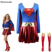 Суперженщины платье супер косплей костюмы для взрослых девочек Хэллоуин супер девушка костюм ободок для волос в стиле Чудо-Женщина Супергерой супер герой платье