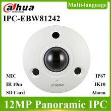 Dahua IPC-EBW81242 atualização de IPC-EBW81230 original 12mp fisheye ip câmera panorâmica câmera de rede substituir IPC-EB5531 com logotipo