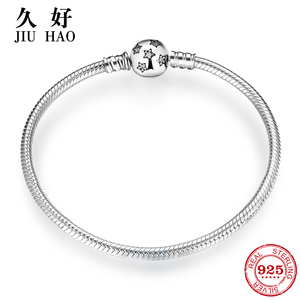 Image 1 - Authentic 100% 925 Sterling Silver twinkle Stars Snake Chain Cubic Zirconia CZ Classic Womens bracelets Bangle DIY Jewelry