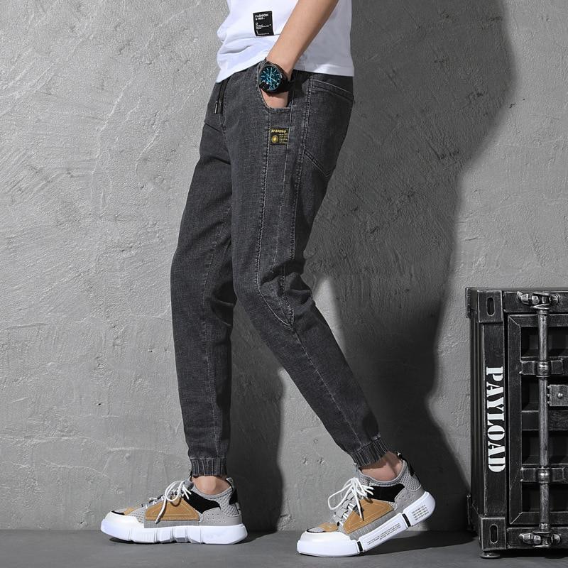 Spring And Summer New Style Jeans Men's Loose-Fit Harem Casual Pants Korean-style Versatile Beam Leg Elasticity Popular Brand La