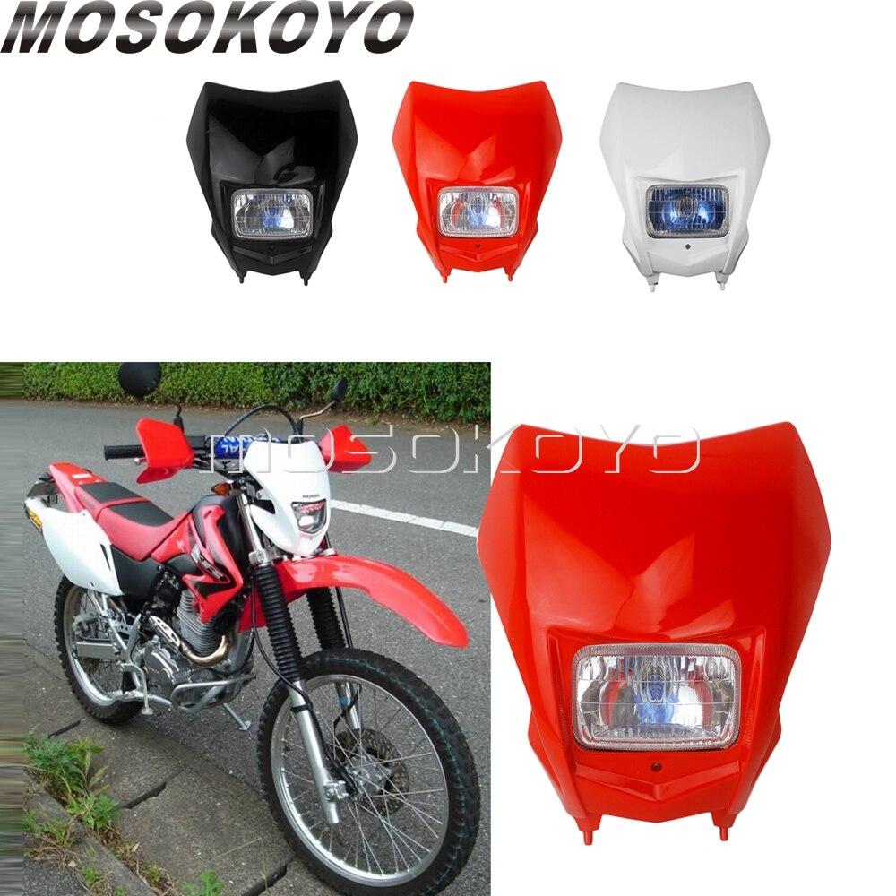 Motocross MX Enduro Headlight For Honda CRF150F CRF230F  Supermoto Dirt Bike Headlamp Universal For Yamaha Suzuki KTM  2015-2020