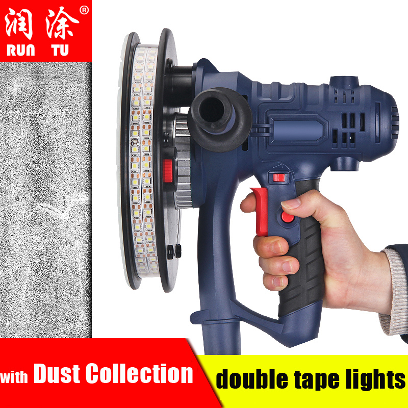 Electric Led Light Wall Polisher Putty Grinder Machine 220V Sanding Grinding Equipment Wall Smoothness Construction