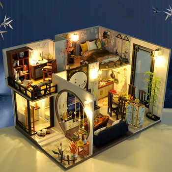 Bricolage Miniature maison de poupée Kit maison avec des ensembles de meubles saint valentin cadeaux danniversaire drôle jouet pour enfants Jouets pour enfants #3
