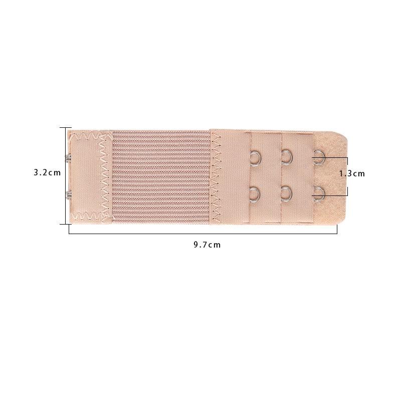 1 шт., удлинитель для бюстгальтера, удлинение пряжки, 3 ряда, 2 крючка, застежка, ремни, женский ремень для бюстгальтера, удлинитель, инструмент для шитья, аксессуары для интима - Цвет: Бежевый